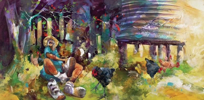 Donald-James-Waters-Artwork-Doras-Chooks